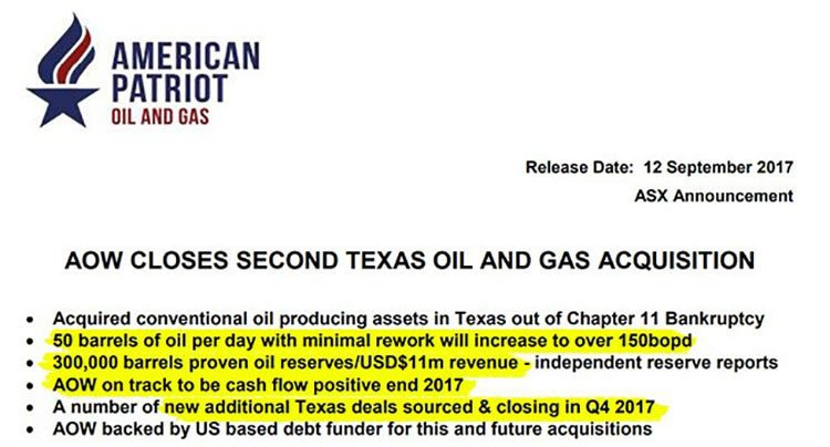AOW texan assets