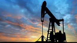 Dawn over petroleum pump