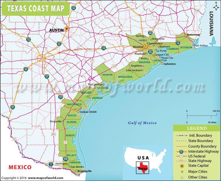 Texas coastline