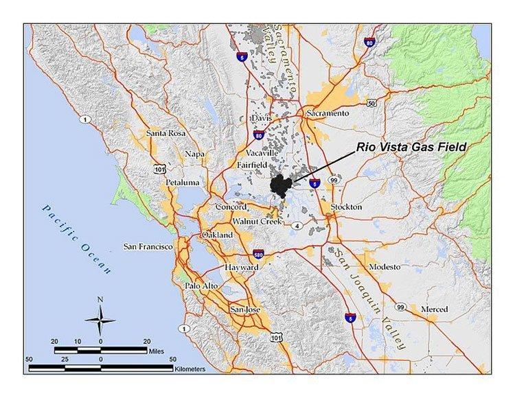 Rio vista gas field