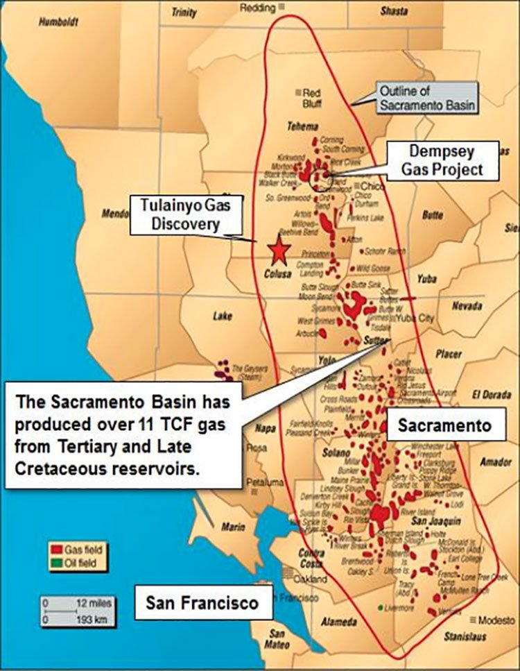 Sacramento basin gas projects