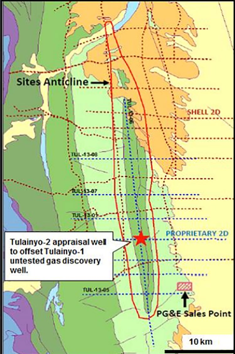 Tulainyo gas discovery map