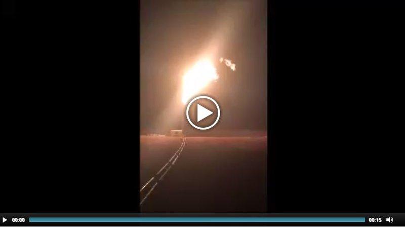 Tamarama well gas flare
