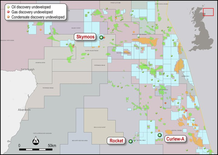 Talon North Sea acreage post acquisition of EnCounter Oil