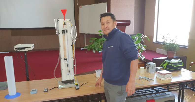 Training seminar on desorption equipment in Ulaanbaatar