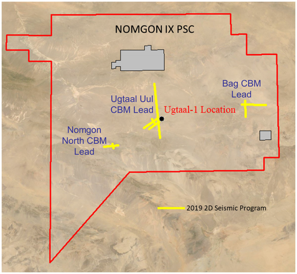 Nomgon CBM PSC including the first well (Ugtaal-1)