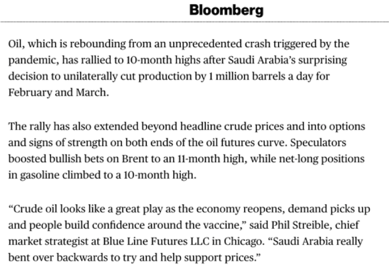 Investors are betting on oil as economies re-open post COVID-19.