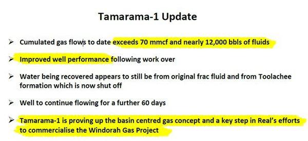 Tamara 1 update